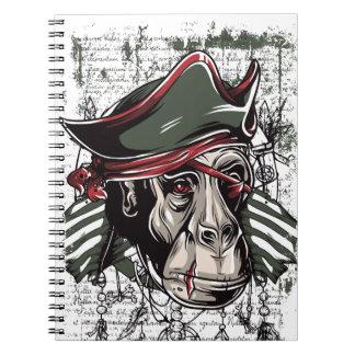 monkey the pirate cute design notebooks
