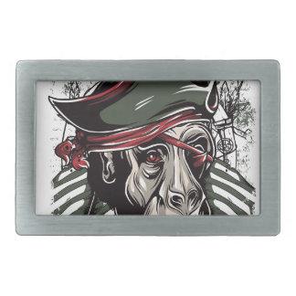 monkey the pirate cute design rectangular belt buckle