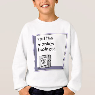 Monkey transportation issue sweatshirt