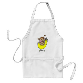 Monkey Twin Boy and Girl Tshirts and Gifts Standard Apron