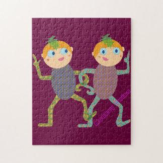 Monkey Twins Jigsaw Puzzle
