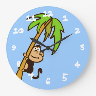Monkey Up a Tree Large Clock