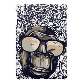 monkey vintage with glasess iPad mini cover