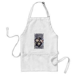 monkey vintage with glasess standard apron