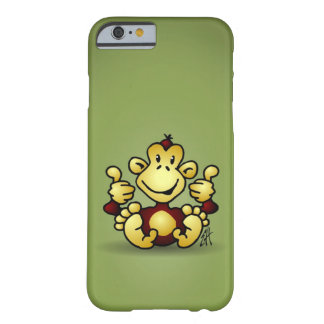 Monkey with four thumbs up barely there iPhone 6 case
