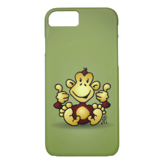 Monkey with four thumbs up iPhone 7 case