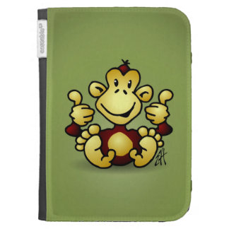 Monkey with four thumbs up kindle folio cases