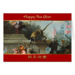 Monkey with Fruits Flowers 2 - Monkey Year 2016 Greeting Card