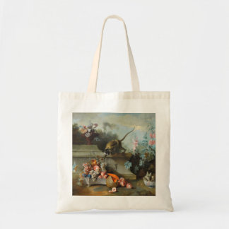 Monkey with Fruits Flowers - Monkey Year 2016 Budget Tote Bag