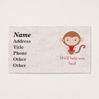 Monkey with heart business card