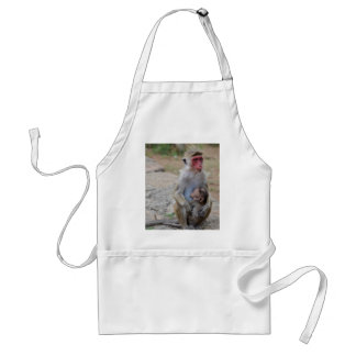 monkey with her baby standard apron