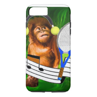 Monkey with tennis balls and racket iPhone 7 plus case