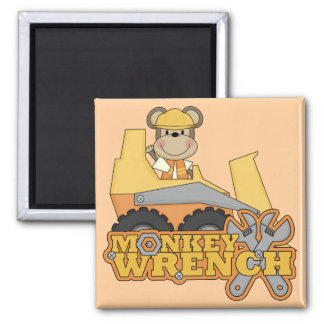 Monkey Wrench Bulldozer T-shirts and Gifts Refrigerator Magnet