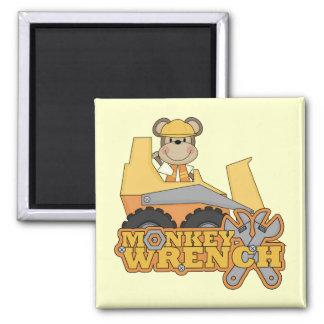 Monkey Wrench Bulldozer Tshirts and gifts Fridge Magnets