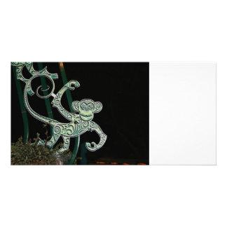 monkey wrought iron figure photo card template