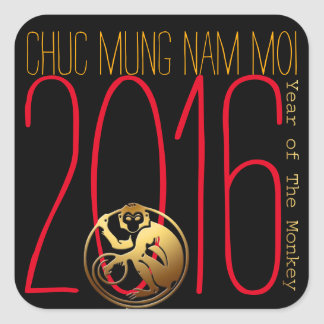 Monkey Year 2016 Vietnamese New Year Stickers
