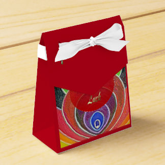 Monkey Year Luck Rainbow Colors Spirals Tent Box Wedding Favor Box