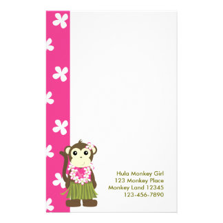 monkeyflowers2, girlmonkeytrop, Hula Monkey Gir... Stationery