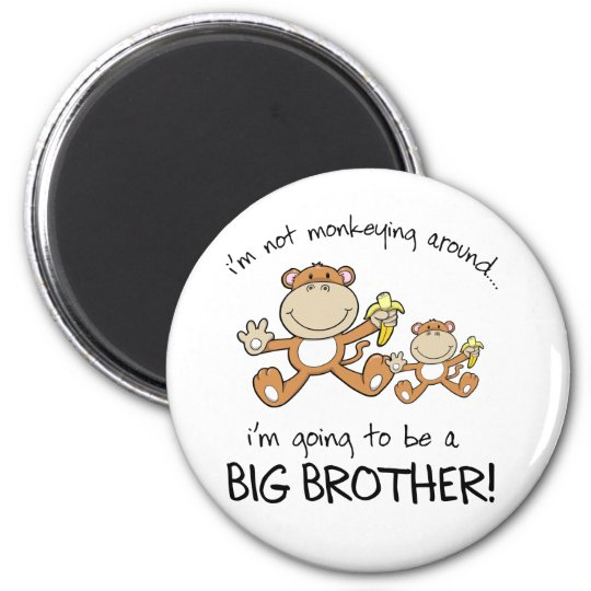 monkeying around 2 inch round magnet