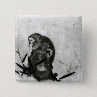 Monkeys 2 Inch Square Button