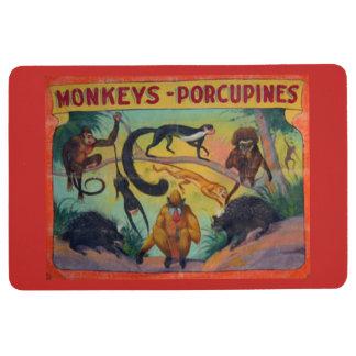 Monkeys and Porcupines Floor Mat