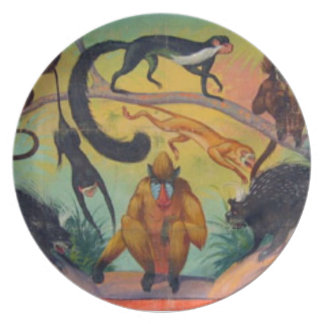 Monkeys and Porcupines Plate