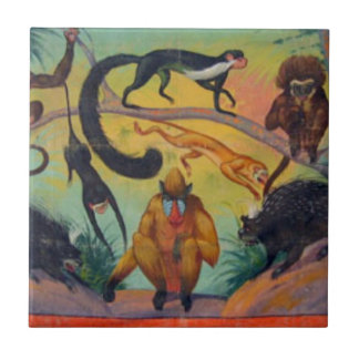 Monkeys and Porcupines Tile