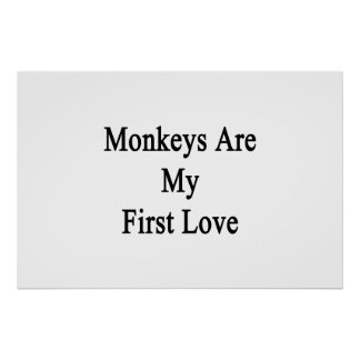 Monkeys Are My First Love Poster