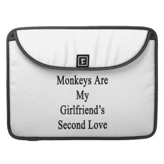 Monkeys Are My Girlfriend's Second Love Sleeves For MacBook Pro