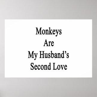 Monkeys Are My Husband s Second Love Print