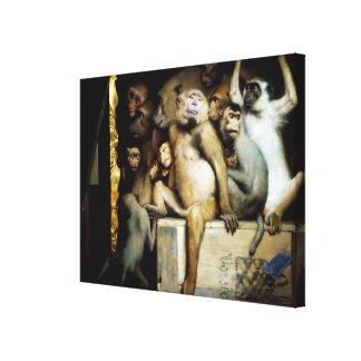 Monkeys as Judges of Art Canvas Print