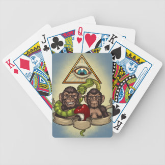 Monkeys Bicycle Playing Cards
