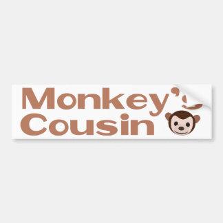 Monkey's Cousin Car Bumper Sticker