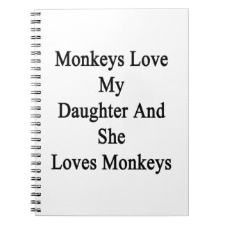 Monkeys Love My Daughter And She Loves Monkeys Spiral Note Book