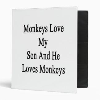 Monkeys Love My Son And He Loves Monkeys Vinyl Binders