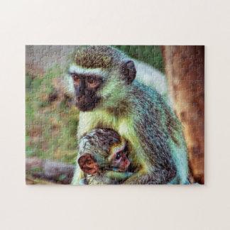 Monkey's of Kenya Jigsaw Puzzle