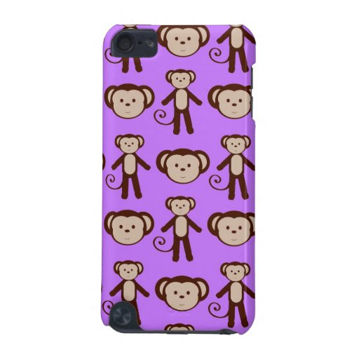 Monkeys on Purple iPod Touch 5G Covers