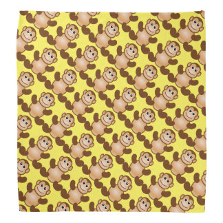 Monkeys on Yellow Bandana