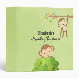 Monkeys - Playful and Cute Personalized Vinyl Binders