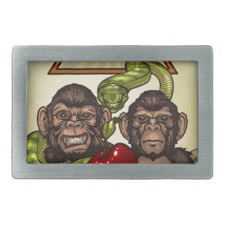 Monkeys Rectangular Belt Buckle