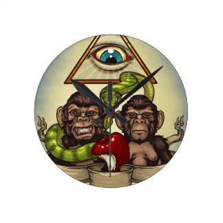 Monkeys Round Clock