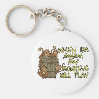 Monkeys Will Play Keychain