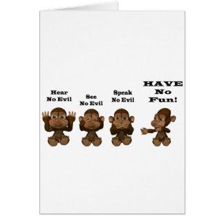 monkies cartes de vœux