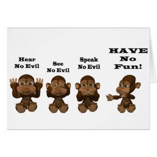 monkies carte de vœux