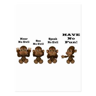 monkies carte postale