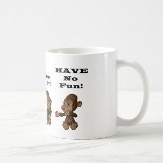 monkies mug blanc