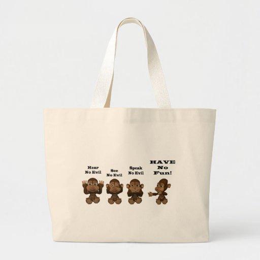 monkies sac en toile