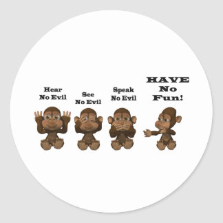 monkies sticker rond