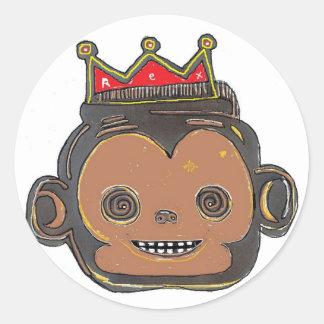 Monking Round Sticker