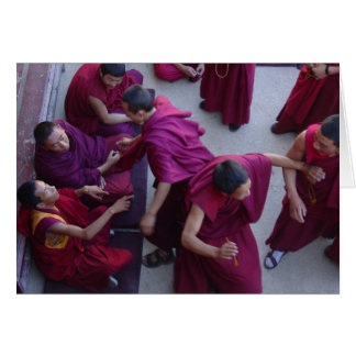 Monks Debating on Jokhang Roof Greeting Card